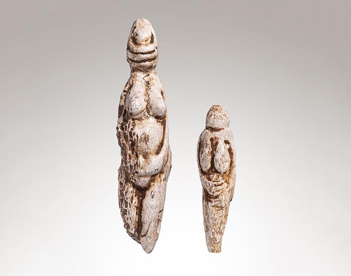 'Venus de Parabita' estatuillas de hueso femenino
